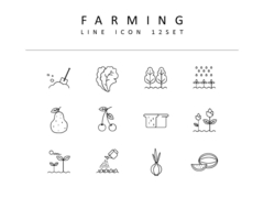 농업 라인 아이콘 3종세트(2)