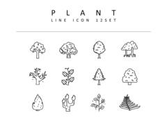 식물 라인 아이콘 3종세트(1)