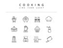 요리 라인 아이콘 3종세트(1)