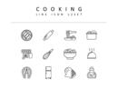 요리 라인 아이콘 3종세트(2)