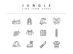 정글 라인 아이콘 3종세트(1)
