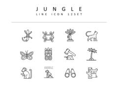 정글 라인 아이콘 3종세트(2)