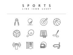 스포츠 라인 아이콘 3종세트(1)