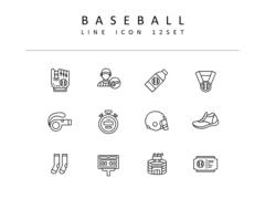 야구 라인 아이콘 3종세트(1)