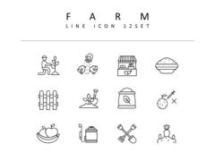 농장 라인 아이콘 3종세트(1)