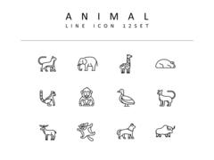 동물 라인 아이콘 3종세트(1)