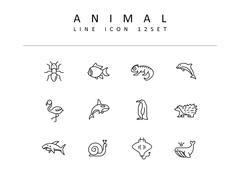 동물 라인 아이콘 3종세트(3)