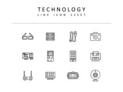 기술 라인 아이콘 3종세트(2)