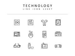 기술 라인 아이콘 3종세트(3)