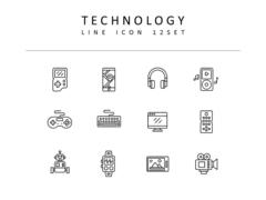 기술 라인 아이콘 3종세트(1)