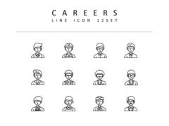 직업 라인 아이콘 3종세트