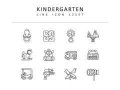 유치원 라인 아이콘 3종세트(1)