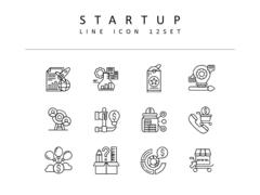 스타트업 라인 아이콘 3종세트(1)