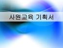 사원교육 기획서(LCD-TV업체)