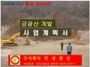 금광산 개발 사업계획서
