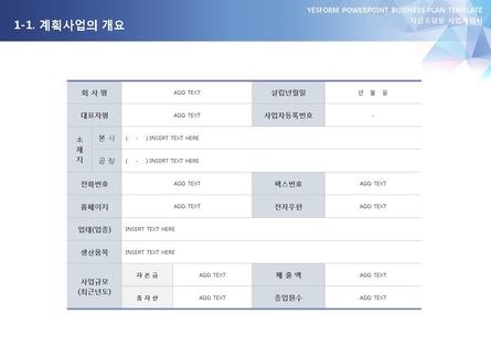 제조업 표준 사업계획서(자금조달용) #3