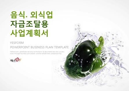 음식.외식업 표준 사업계획서(자금조달용)