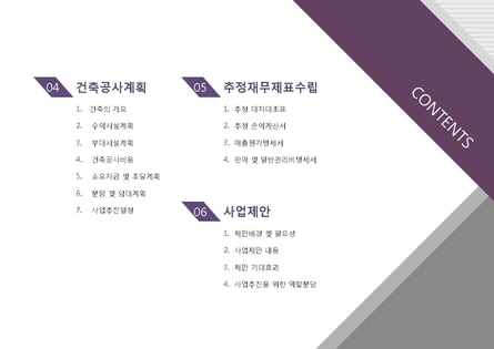 건설업 표준 사업계획서(사업제안용)