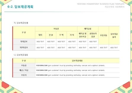 서비스업 표준 사업계획서(자금조달용) #43
