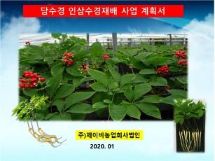 주)제이비농업회사법인 담수경 인삼수경재배 사업제안서