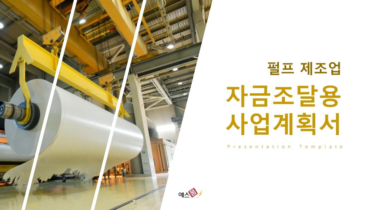 펄프 제조업 자금조달용 사업계획서-미리보기