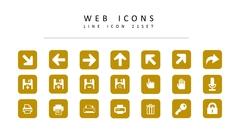 웹 라인 아이콘 3종세트(2)