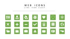 웹 라인 아이콘 3종세트(3)