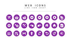 웹 라인 아이콘 3종세트