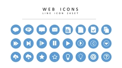 웹 라인 아이콘 3종세트(1)