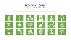 생태학 라인 아이콘 3종세트