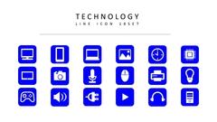 테크놀러지 라인 아이콘 3종세트