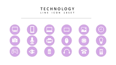테크놀러지 라인 아이콘 3종세트(1)