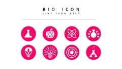 바이오 라인 아이콘 3종세트
