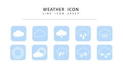 날씨 라인 아이콘 3종세트 #1