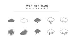 날씨 라인 아이콘 3종세트 #2