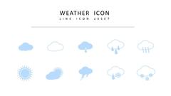 날씨 라인 아이콘 3종세트 #3