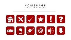 홈페이지 라인 아이콘 3종세트