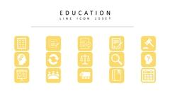 교육 라인 아이콘 3종세트(4)