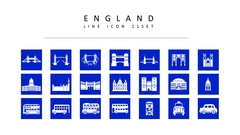 영국 라인 아이콘 3종세트