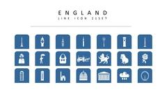 영국 라인 아이콘 3종세트(2)