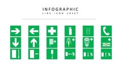 인포그래픽 라인 아이콘 3종세트