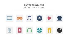 엔터테인먼트 컬러 아이콘 3종세트