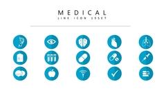의료 라인 아이콘 3종세트(11)