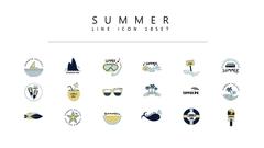 여름 컬러 아이콘 2종세트