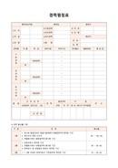 경력평정표(경력환산률 기준)