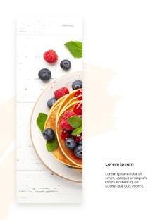 달콤한 디저트 (Dessert) 세로형 PPT 배경