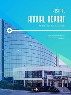 병원 사업 (Hospital) 연간 보고서 PPT 배경