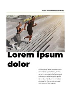 Sporty 디자인 프레젠테이션 ppt 템플릿