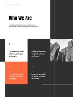 건축 (Architectural) 연간 보고서 PowerPoint