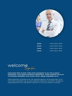 의학, 과학 연구 연간 보고서 PowerPoint template